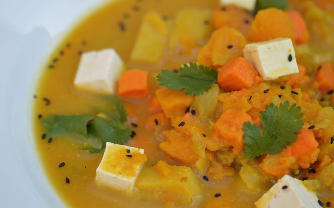 Kabocha Squash and Yellow Curry Soup